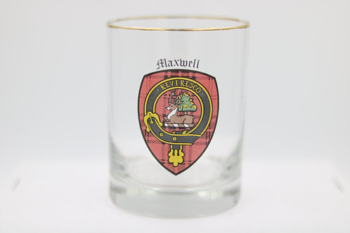 Maxwell Clan Crest Glass