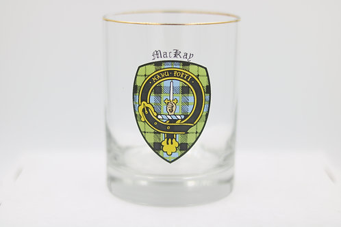 MacKay Clan Crest Glass