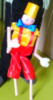 Marionnette d'un mêtre Soleil bleu