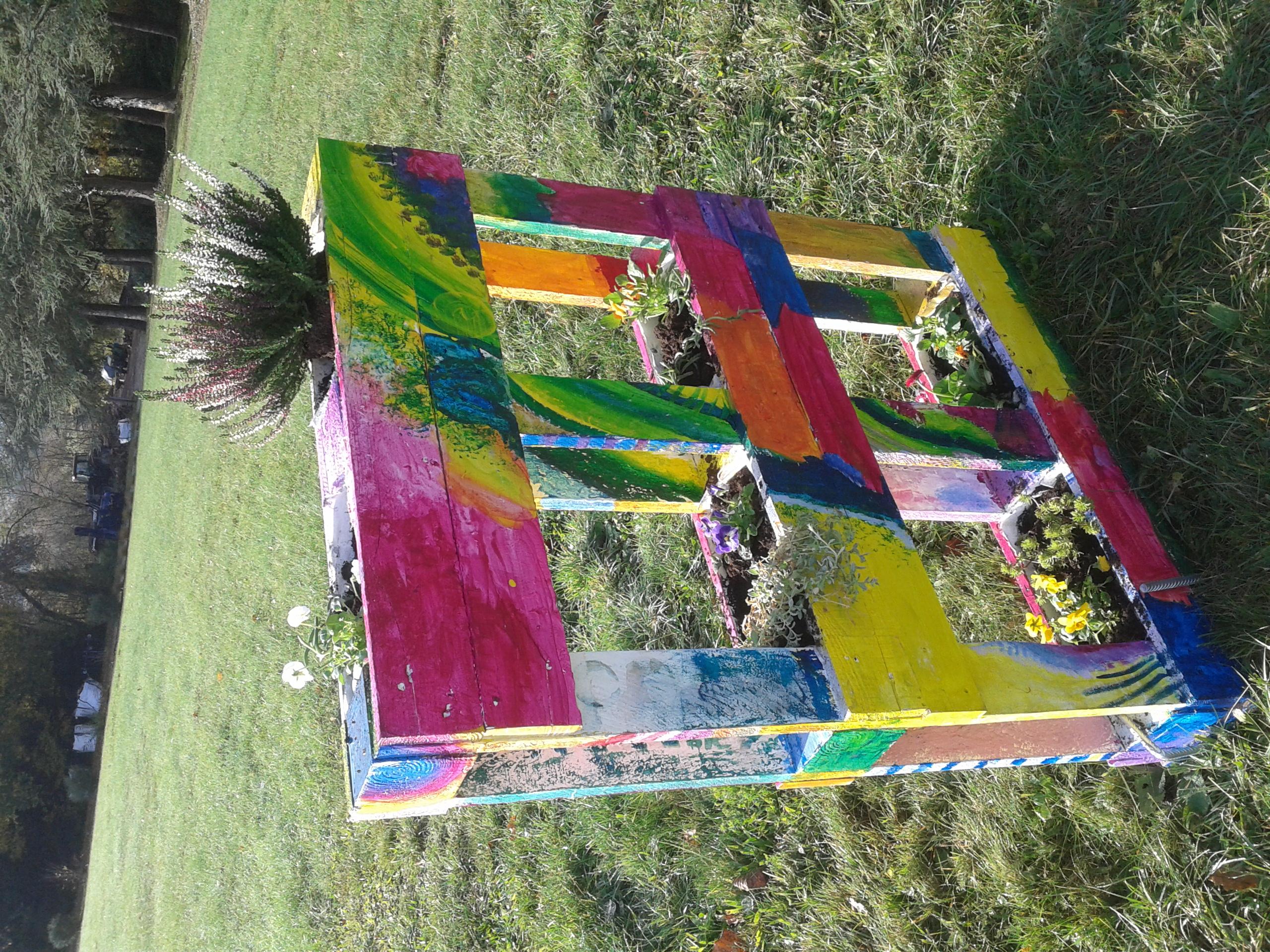Palette jardinière