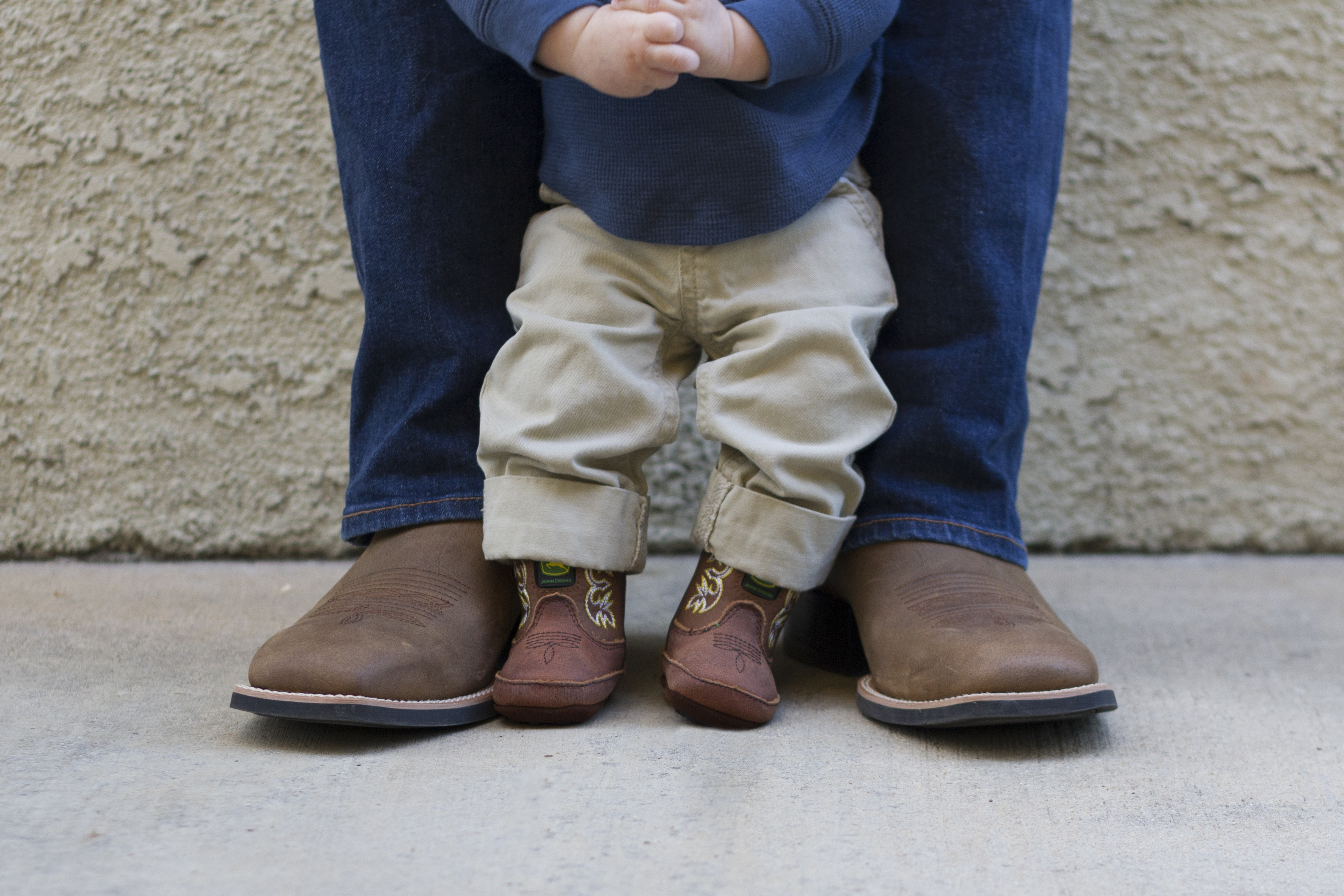Daddy and Baby Boot Photo