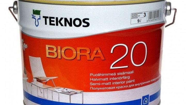 Biora 20 полуматовая интерьерна краска от