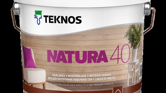 NATURA 40 п/г водный лак для внутр. работ | цена за литр, от