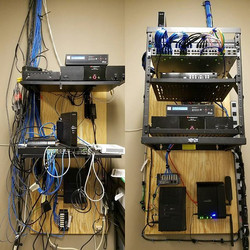network closet Before and After