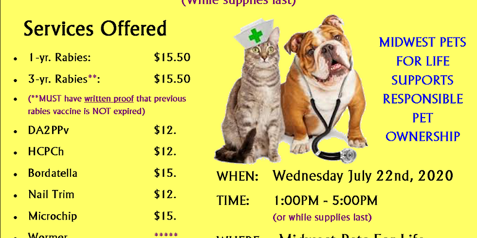 Vaccination & Microchip Clinic