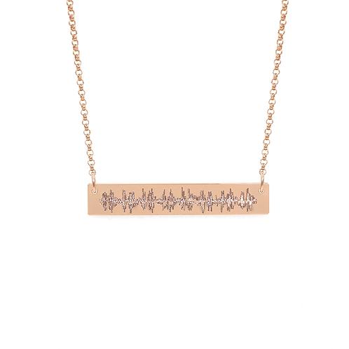 Heartbeat Bar Necklace