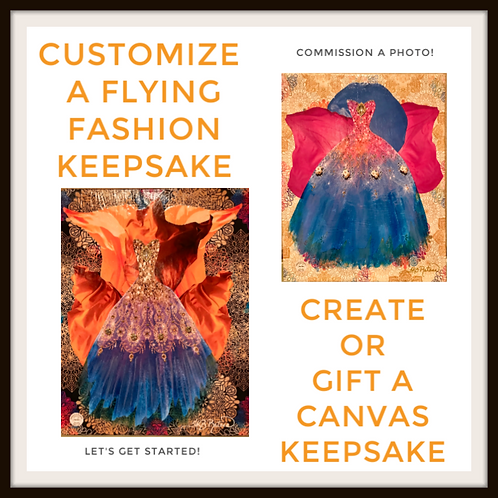 Customize A Flying Fashion Canvas