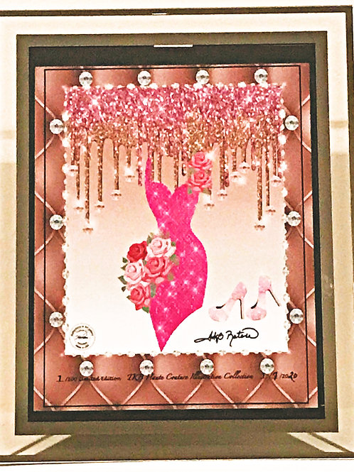 PINK ROSES DIAMOND DRIP