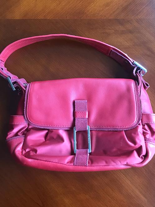 Authentic Furla 100% Leather, Suede & Fabric Tote Handbag