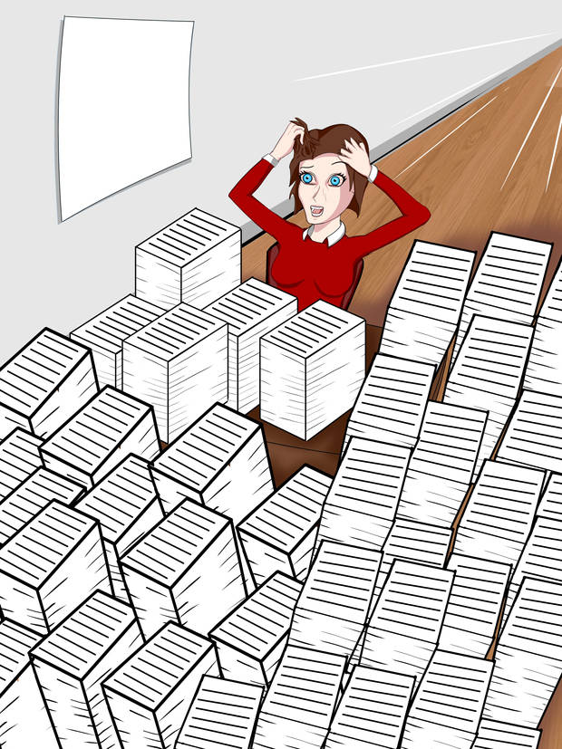 Are you swamped with paperwork?