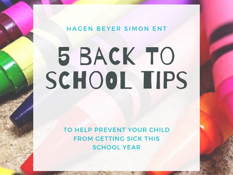 5 Back to School Tips to Prevent Your Child from Getting Sick This School Year!