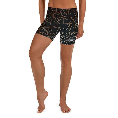 Gold Lightning Athletic Shorts