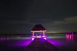 Muelle iluminación LED multicolor