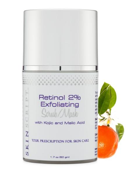 Retinol 2% Exfoliating Scrub, with Kojic