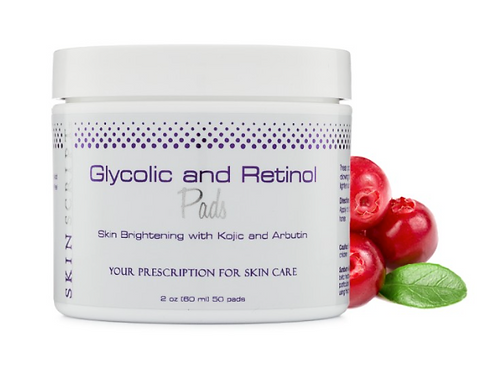Glycolic and Retinol Pads, with Kojic and Arbutin 50 pads