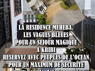 LA RESIDENCE MEHEBA, LA VAGUE BLEUE VOUS INVITE