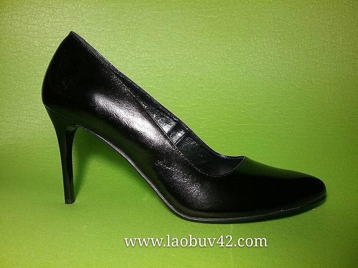 Туфли шпилька 10 см кожа