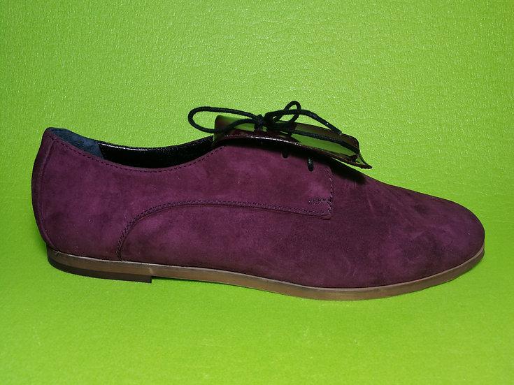 Туфли дерби замш-лак 43 размер