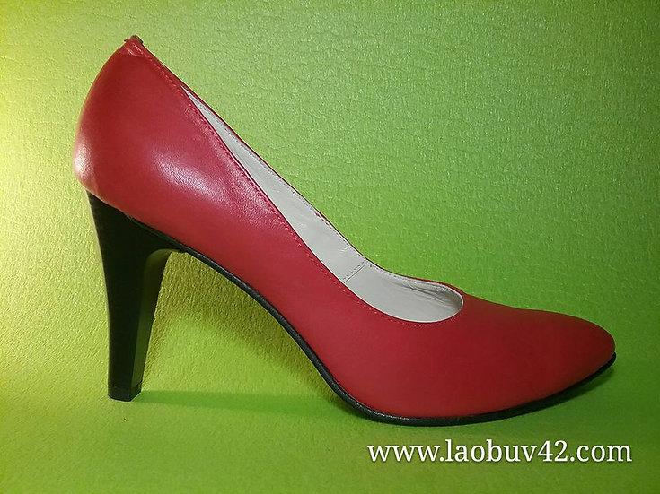 Туфли шпильки красная кожа 42 размер