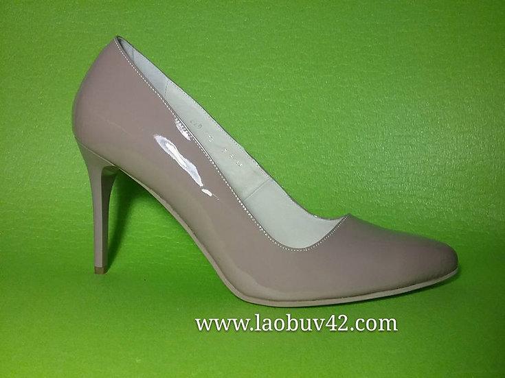Туфлі шпилька 10 см шкіра-лак