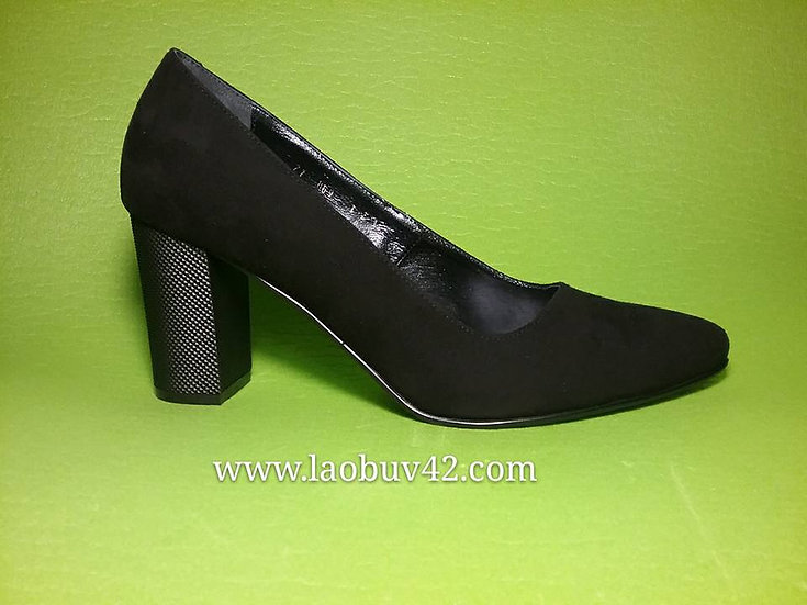 Туфлі замш каблук 8 см