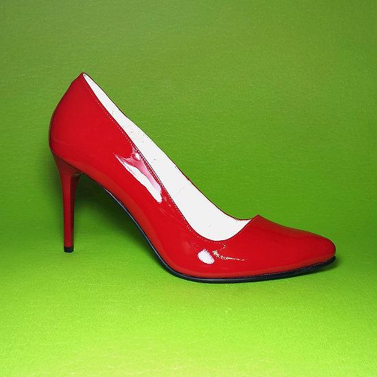 Туфлі-шпилька 10 см шкіра - лак