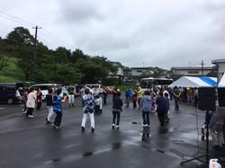 名取市の仮設住宅納涼祭の応援