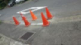戸塚町の道路整備工事