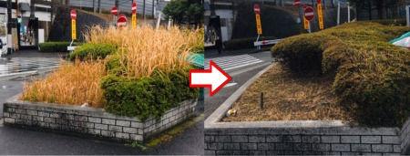 横浜新道上矢部インター上り出口の除草作業