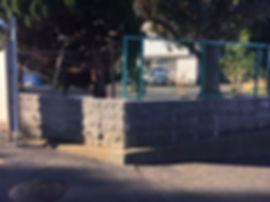 小雀小学校学校ブロック塀が改善