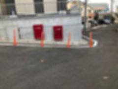 上柏尾町交差点・オレンジポール設置