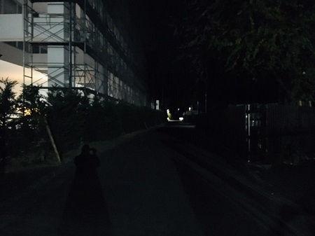 防犯灯設置推進要望の現場を視察