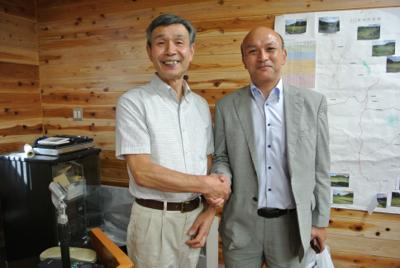 二本松(復興への取り組み視察)里山再生と災害復興プログラムの説明を聞く