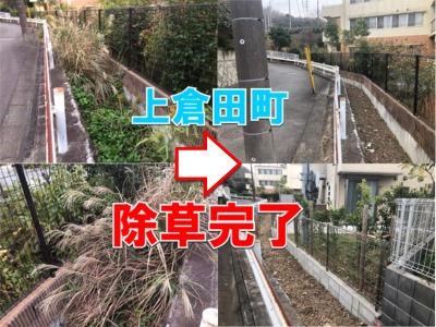 上倉田町の市有地の除草が実施