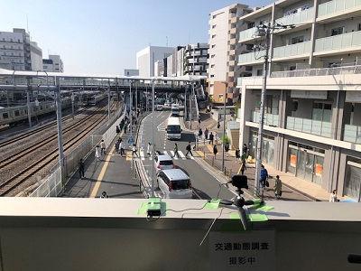 戸塚駅前の動向調査を実施しています。
