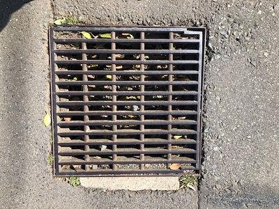 汲沢町390番地付近の雨水対策要望箇所を視察
