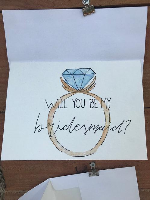 Bridesmaid Notecard