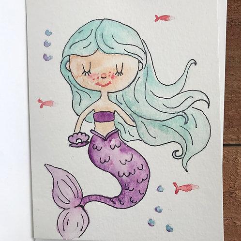 Mermaid Notecard