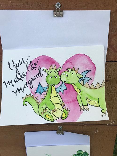 Magical Dragons Notecard