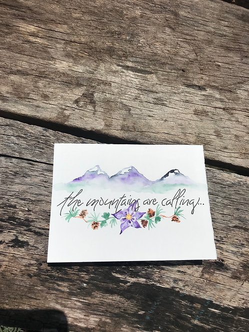 Mountains are Calling Note Cards
