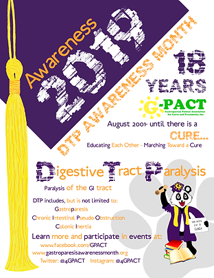 Gastroparesis Awareness Month Flyer for August 2019