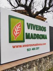 Nuevo rótulo para Viveros Madrona realiz