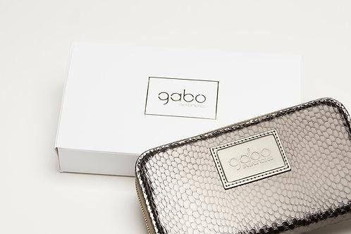 Gabo Szerencses // Nagy pénztárca ezüst kígyómintás
