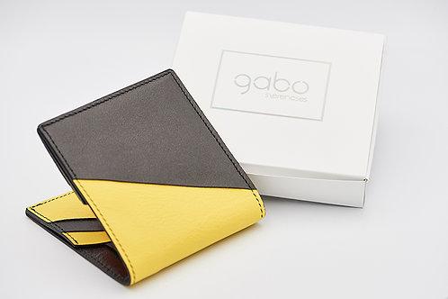 Gabo Szerencses // Y kis pénztárca fekete-banánsárga