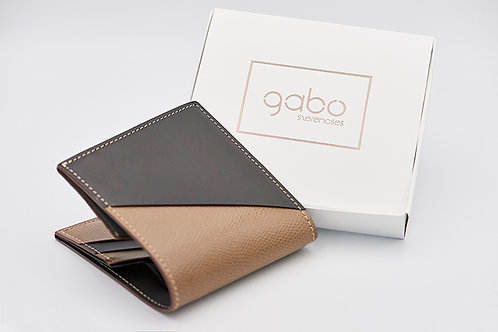 Gabo Szerencses // Y kis pénztárca matt fekete-taupe