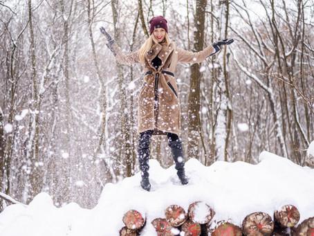 Egy spontán fotózás a gyönyörű téli erdőben