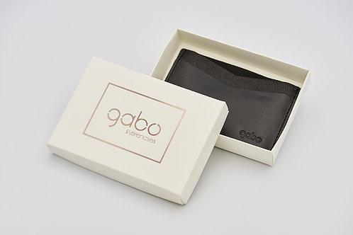Gabo Szerencses // Kétféle Fekete bőrből készült kártyatartó