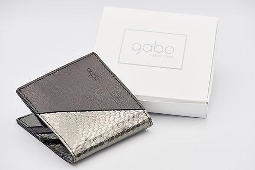 Gabo Szerencses // Y kis pénztárca matt fekete-lakk kígyó