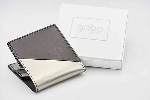 Gabo Szerencses // Y kis pénztárca matt fekete-ezüst