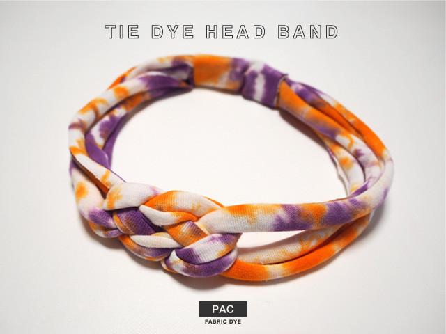 tie dye head band タイダイヘアバンド